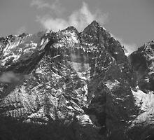 Kalang Danda monochrome ~ Nepal. by Richard  Stanley