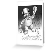 Pot wearing Little person Greeting Card