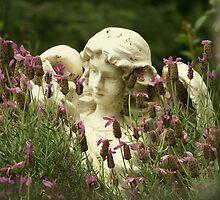 Angel Hiding in the Garden by grovene