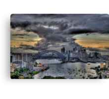 Trepidation - Moods Of A City - The HDR Experience Canvas Print