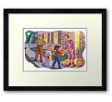 Dick and Jane Halloween Framed Print