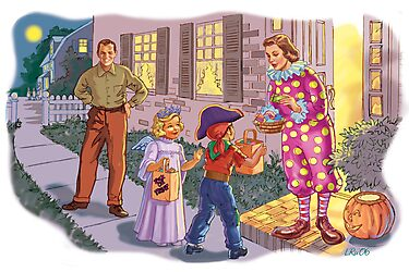 Dick and Jane Halloween by larry ruppert