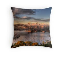 Anticipation - Moods Of A City - The HDR Experience Throw Pillow
