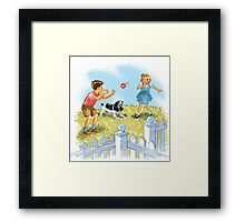 Dick and Jane pLay Ball Framed Print