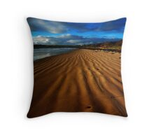 Tide Lines in the Sand Throw Pillow