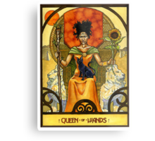 Queen of Wands Metal Print