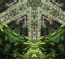 Cathedral in the forest, altered image by hotpotato