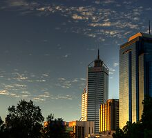 Riverside Drive Perth Skyline by GerryMac