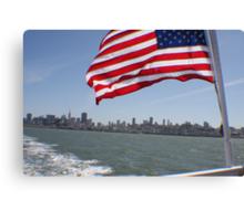 Flag in San Francisco.... Canvas Print