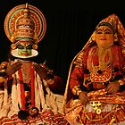 Costume Actors, Kathakali Performers, Cochin by Jane McDougall