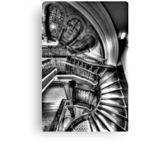 The Grand Staircase (Monochrome) - QVB - The HDR Experience Canvas Print
