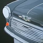 ORIGINAL MINI, GRILLE AND HEADLIGHT by mphcarpaintings