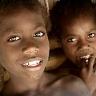 Two boys in Vanuata, South Pacific by Keith Molloy