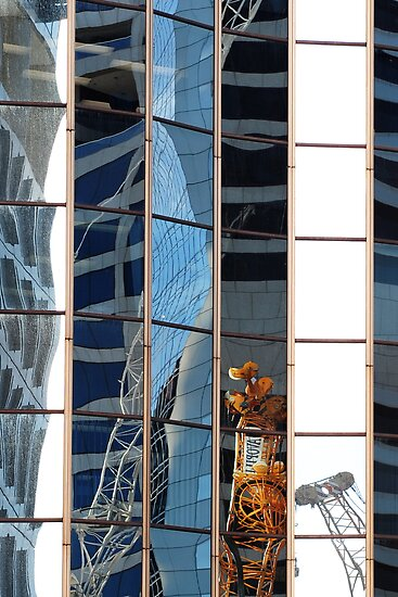reflections in brisbane buildings 4 by nadine henley