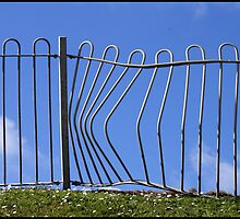 Bent Fence by Jazzdenski