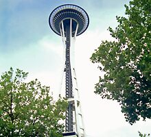 Up to the Space Needle by SteveOhlsen