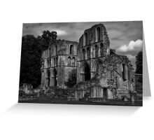 Black & White Collection - Ruined Abbey 1 Greeting Card