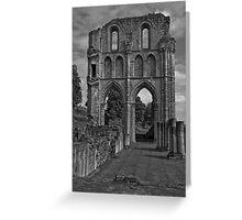 Black & White Collection - Ruined Abbey 2 Greeting Card