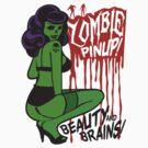 Zombie Pinup by deerokone