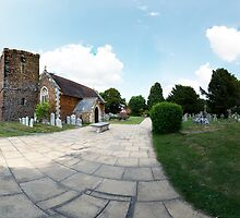 St Andrews Church Kinson Panorama by bubblebat