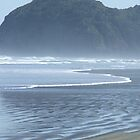 Piha Beach, New Zealand by Kate Kohaly