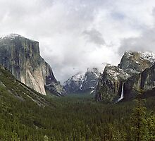 Yosemite Valley From the Tunnel View by Mark Ramstead