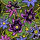 Purple Flowers by Susan Rinehart