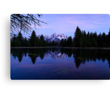 Purple Calm - Pre-Dawn View of the Tetons Canvas Print