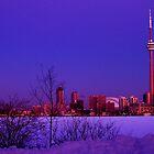 Toronto Morning Moonset by Baye Hunter