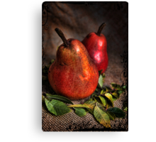 Red Pears Canvas Print