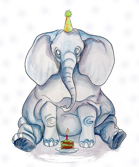 Elephant Birthday by Heather Rinehart