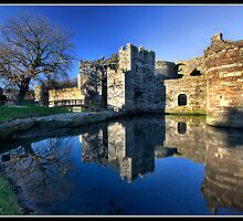 The entrance to Beaumaris castle by Shaun Whiteman