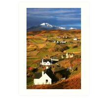 Tarskavaig Crofting Village, Isle of Skye, Scotland. Art Print
