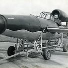 Flying Bomb  (V1)  (Kent & Sussex Courier Photograph) by Brunoboy