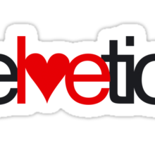 Love Helvetica Sticker