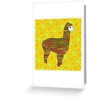 Knitty alpaca Greeting Card