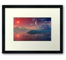 Worlds of Alienvisitor Framed Print