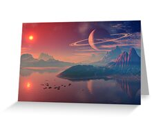 Worlds of Alienvisitor Greeting Card