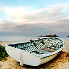 boat at boat beach - seal rocks by craigmason