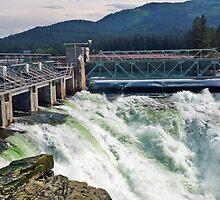 Post Falls Dam by Tamara Valjean