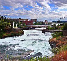 Spokane River Downtown by Tamara Valjean