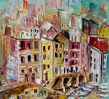 Riomaggiore, The Cinque Terre, ITALY by Wendy Eriksson