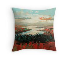 Loch Garry Haze Throw Pillow