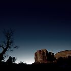 Dark Monument Valley during Sunset (lighter version) by Writhe