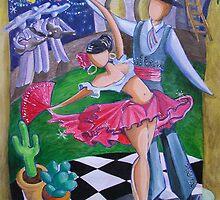 Spicy Salsa Dance by nancy salamouny