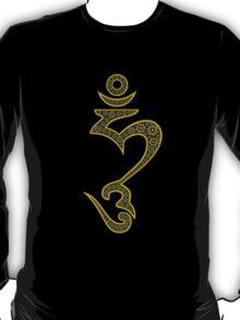 Jeweled Hum (Hung) Symbol T-Shirt