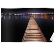 Jetty At Night  Poster