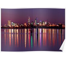 Perth City Reflections  Poster