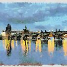 Charles Bridge Prague by Laura Garnett