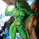SHE - HULK at the beach by crosscomics38